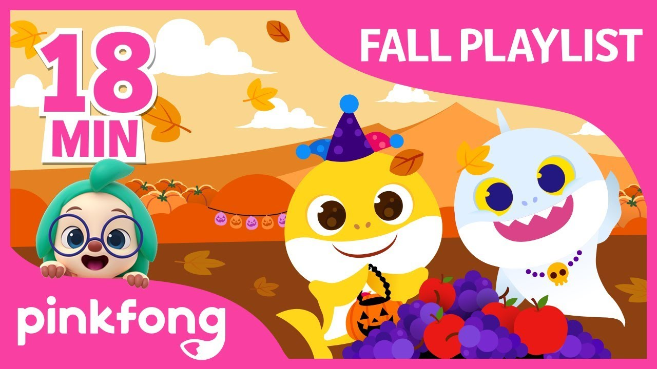 Ghost Baby Shark | Fall Playlist | +Compilation | Sweater Weather | Pinkfong Songs for Children
