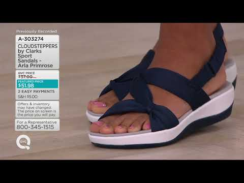 CLOUDSTEPPERS By Clarks Sport Sandals - Arla Primrose On QVC