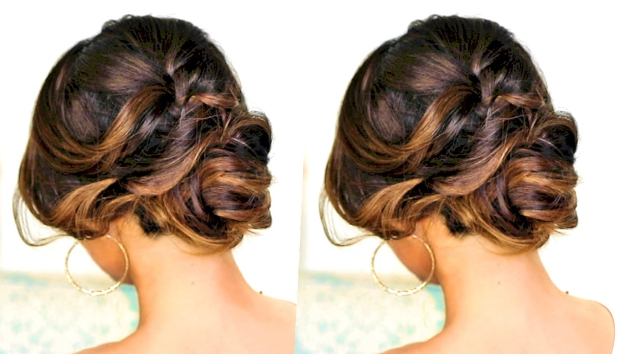 romantic updo hairstyle hairstyles