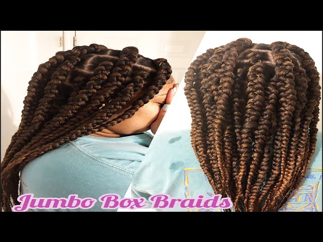 How to Start (Jumbo) Box Braids for Beginners | Rubberband Method