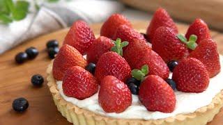 딸기 레어 치즈 타르트  키친에이드  Strawberry Cream Cheese Tart  manna recipe  만나레시피
