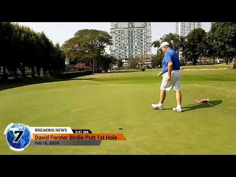 1st Hole Birdie Putt Asia Pattaya Golf Course Thailand