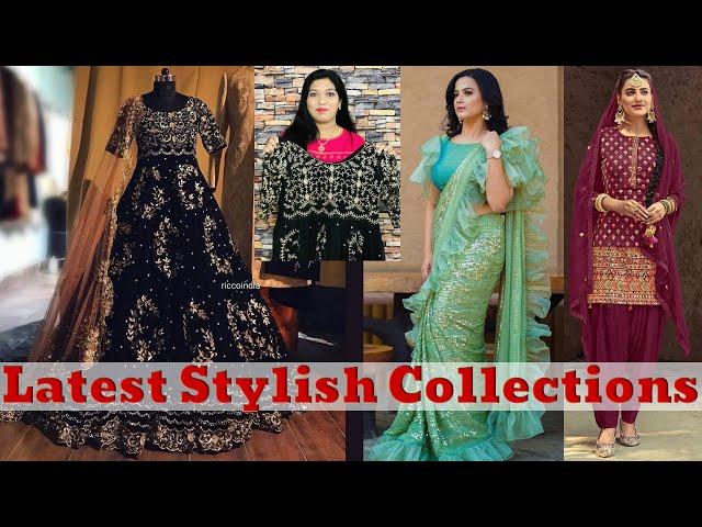 Festive Designer Frill Saree / Black Readymade Gown / Catalogue Patiyala salwar kameez  #prititrendz