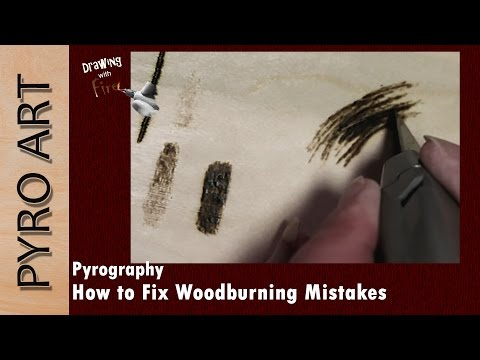 Pyrography: Fixing MISTAKES while Wood burning ☆