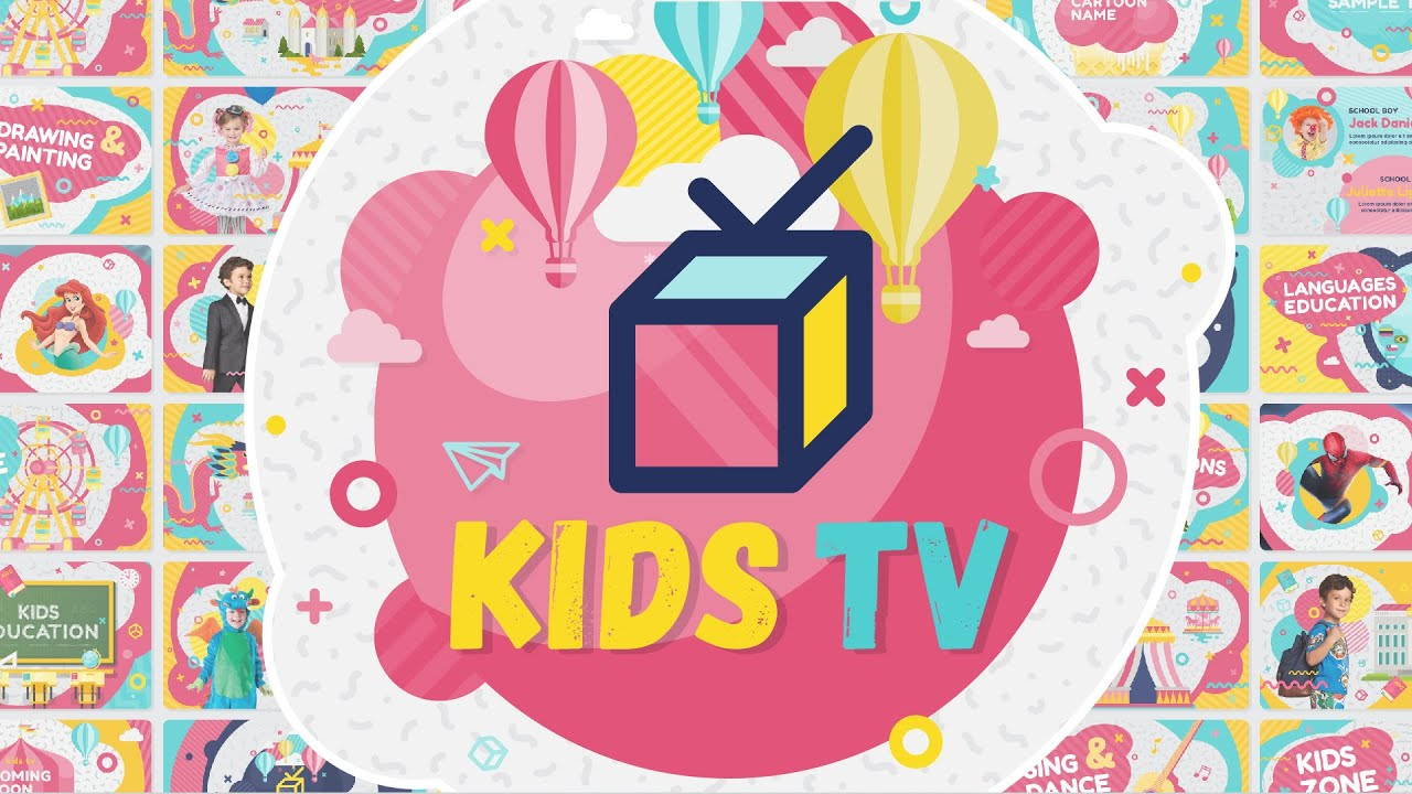 kids tv broadcast social channel design after effects template youtube - Art Templates For Kids