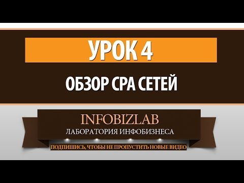 CPA бизнес. Урок 4 - Обзор СРА сетей