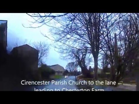 Walk from centre of Cirencester to Chesterton estate