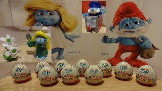 10 The Smurfs in the City Kinder Surprise Eggs Opening new 2018 Special series #125
