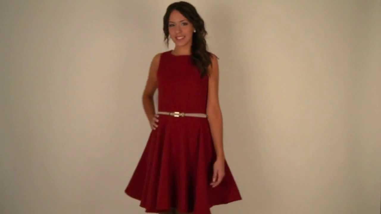 87364e5d5 Moda online:Vestido falda de vuelo en rojo Anna