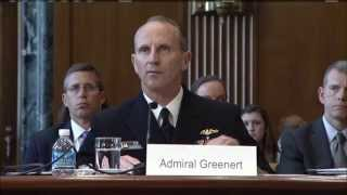 Chief of Naval Operations, Secretary of the Navy Address Senate at Senate Armed Services Committee