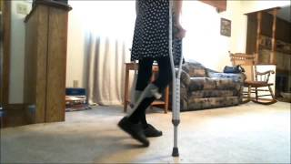 Repeat youtube video Crutches & Leg Braces - Leaving The House