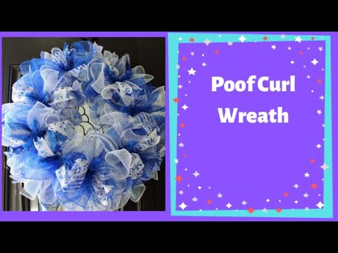 How to make a Poof deco mesh wreath with ruffles