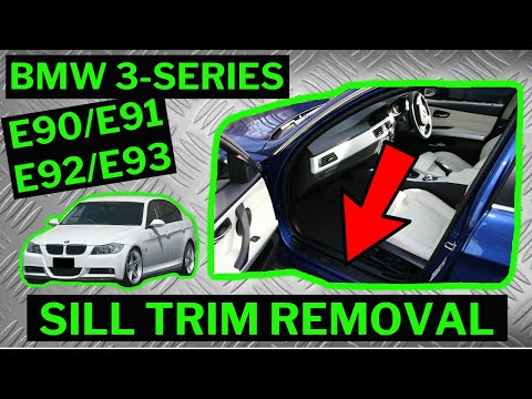 Bmw 3 Series E90 E91 Kick Plate Sill Trim Removal