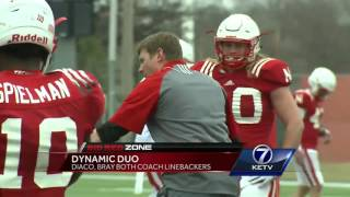 Diaco, Bray both coach linebackers 3/21/17