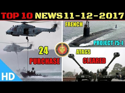 Indian Defence Updates : ATAGS Production Cleared, Indian Navy Project 75I, Multi-role Helicopters