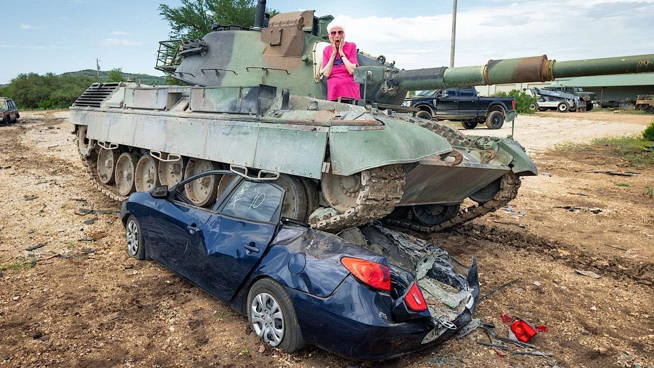 Grandma Uses Tank To Get Payback on Her Ex | Ross Smith