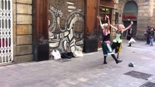 My Bad Sister busking in Barcelona