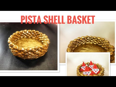 Pista shell basket|best out of waste |pista shell bowls