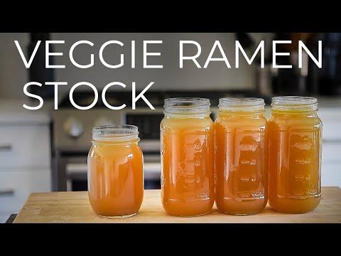 VEGAN RAMEN BROTH FROM SCRATCH | VEGGIE STOCK RECIPE | BASE FOR RAMEN NOODLES