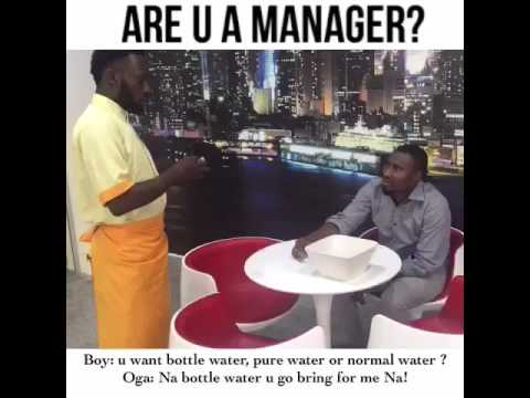 """Video (skit): The Ultimate Manager (""""we no get akpu"""")"""