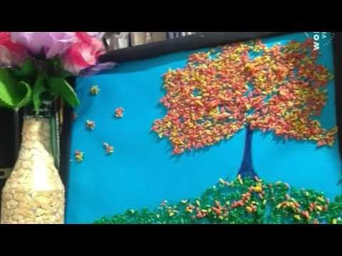 An application of rice for children -a simple craft