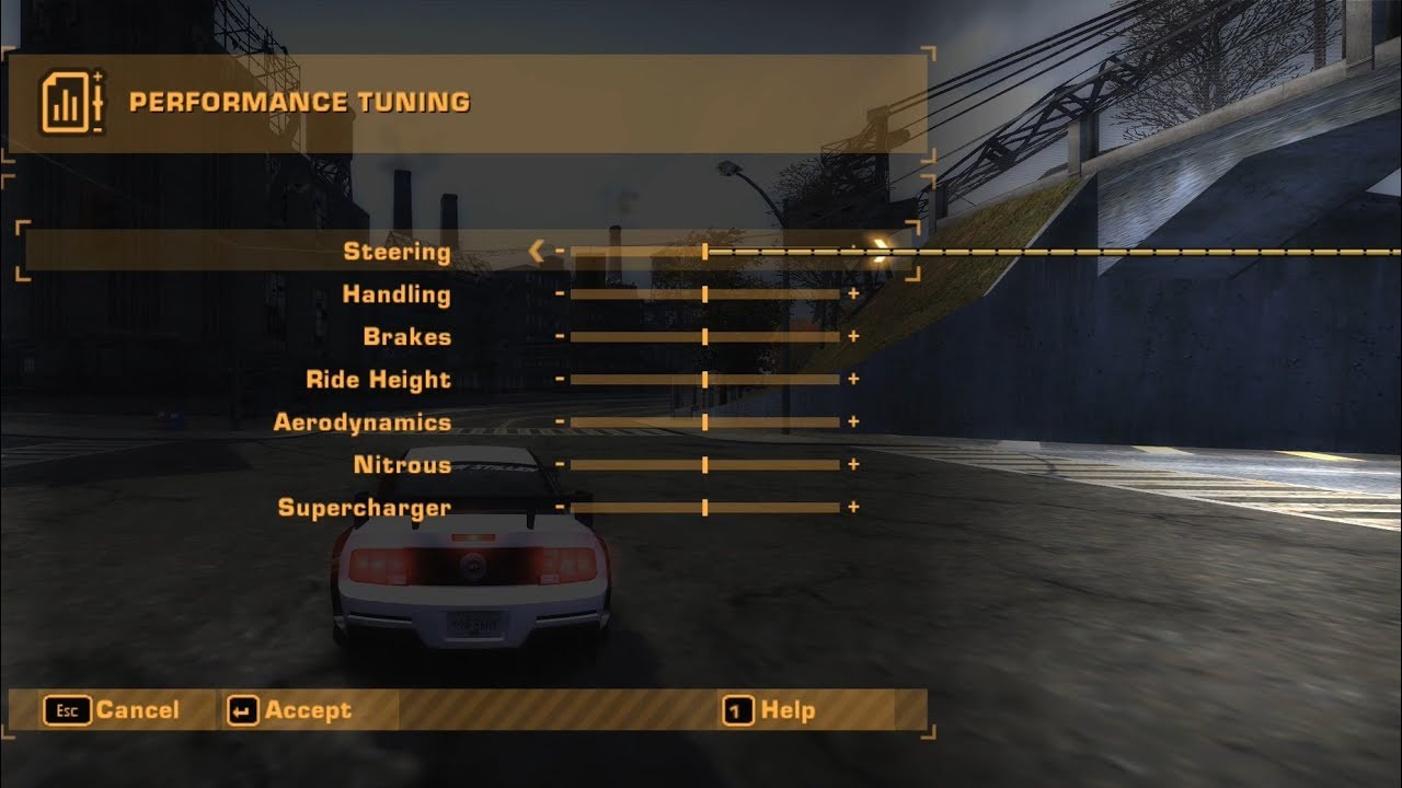 Nfs Most Wanted What Happens If You Select Too Low Or High