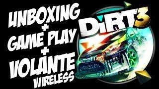 Dirt 3+Volante Wireless+Unbox+GamePlay