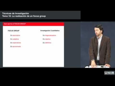 Lección: focus group, Técnicas Investigación, POLÍTICAS UNIR