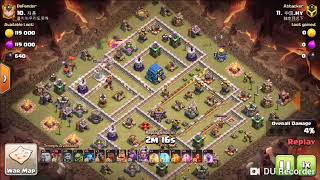 COC TH12 war - Lavaloon 3 stars ( Queen walk / air troops special mix collection#) 十二本狗球流三星合集