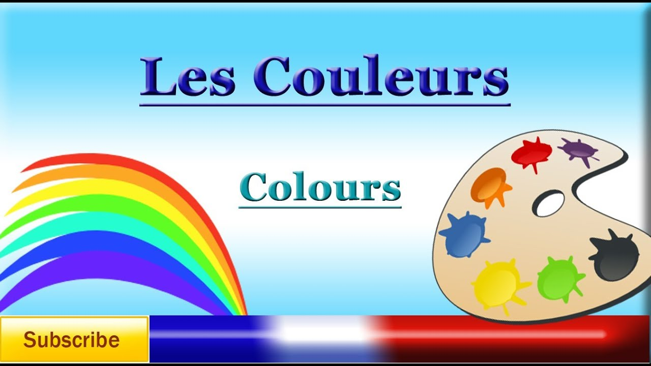 french lesson 6 learn french colours les couleurs colors youtube