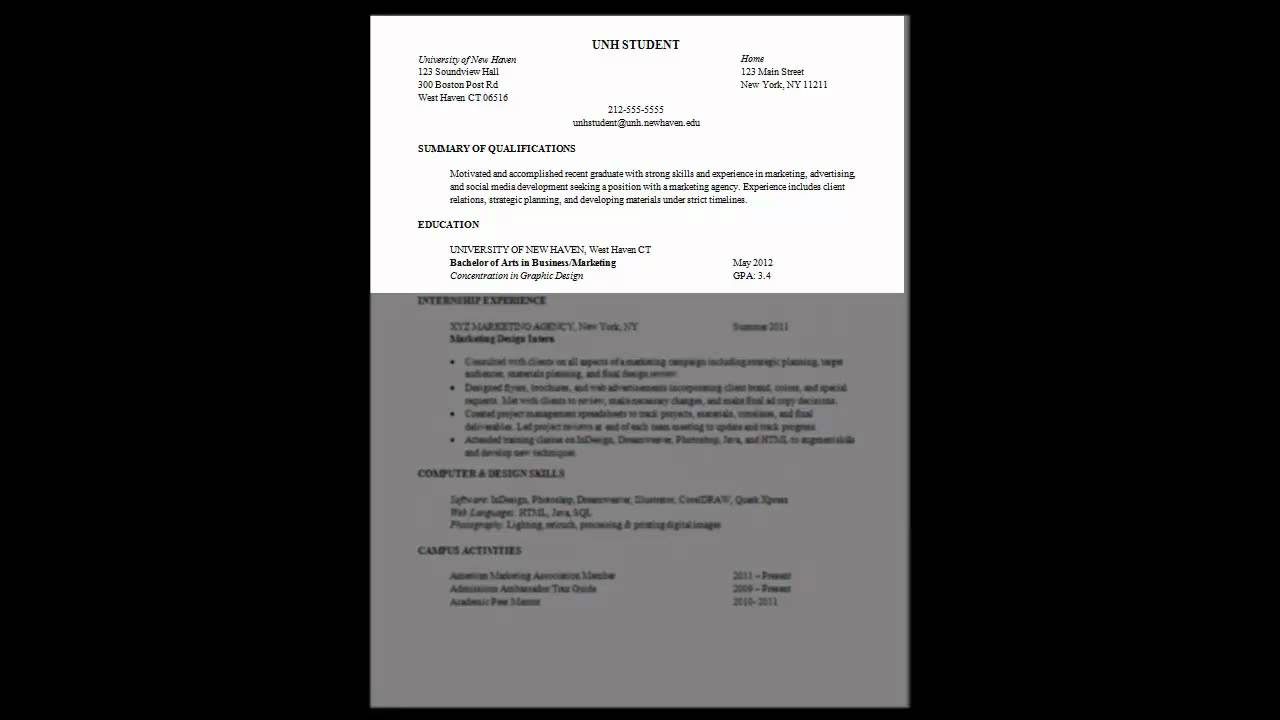 resume writing tutorial youtube