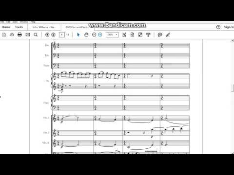 The Reunion by John Williams (War of the Worlds) full score