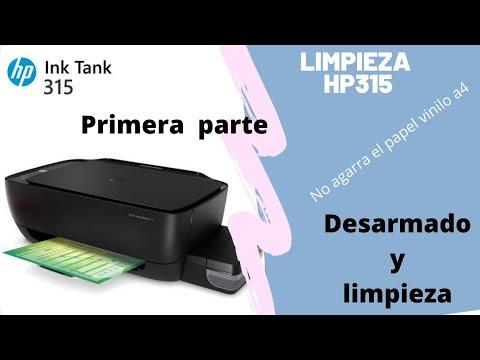🤩 LIMPIEZA DE IMPRESORA HP 🤩 ink tank 315 no agarra el papel solucion video 1