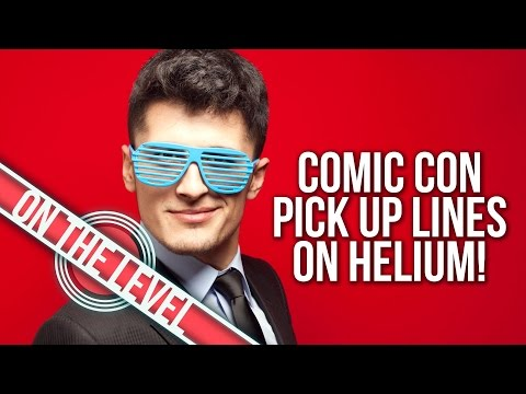COMIC CON PICK UP LINES | Hitting On You With HELIUM!
