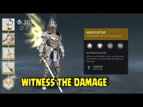 Shadow Fight 3 abdicator set gameplay | example of special ability used by BOSS