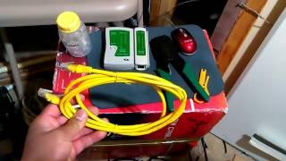 Chia Sẻ Cách Làm Đầu Dây Ethernet CAT-6 ...Video # 20