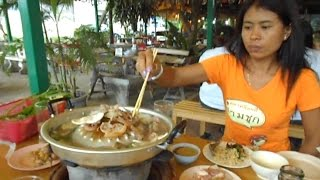 Thailand's best kept secret Thai food? Moo Kata (Thai barbecue) Restaurant in Krabi Town, Thailand.