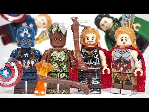Lego Avengers Endgame Captain America Groot Thor Jane Foster Loki Unofficial Lego Minifigures