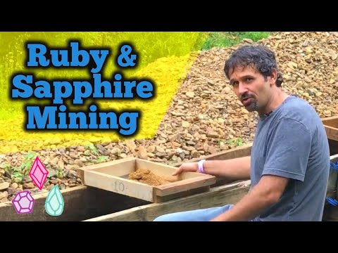Ruby & Sapphire Crystal Mining @ Cherokee Mine in North Caro