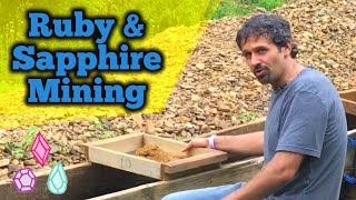 Ruby & Sapphire Crystal Mining @ Cherokee Mine in North Carolina