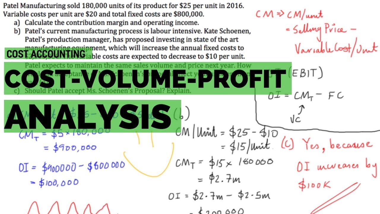 Cost Volume Profit (CVP) Analysis - Example