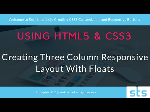 HTML5 and CSS3 Three Column Responsive Layout