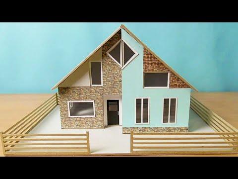 DIY Simple Miniature House | Small Modern House