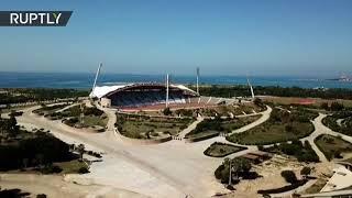Restauran estadio en Siria tras alojar a casi 6.000 refugiados