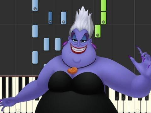 Poor Unfortunate Souls Piano Tuturial Youtube