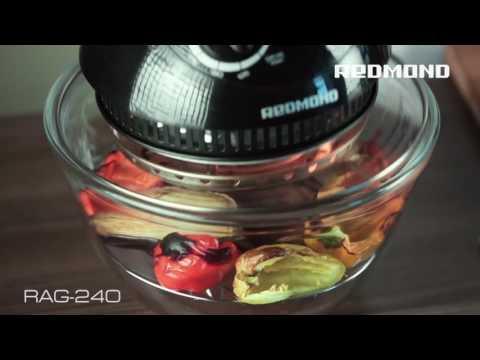 Стейк из мраморной говядины с овощами гриль и обзор аэрогриля REDMOND RAG 240