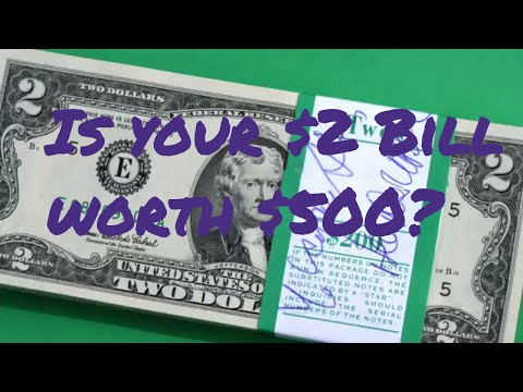 $500 in your pocket AND you don't know it!  $2 Bill Search from Coin World