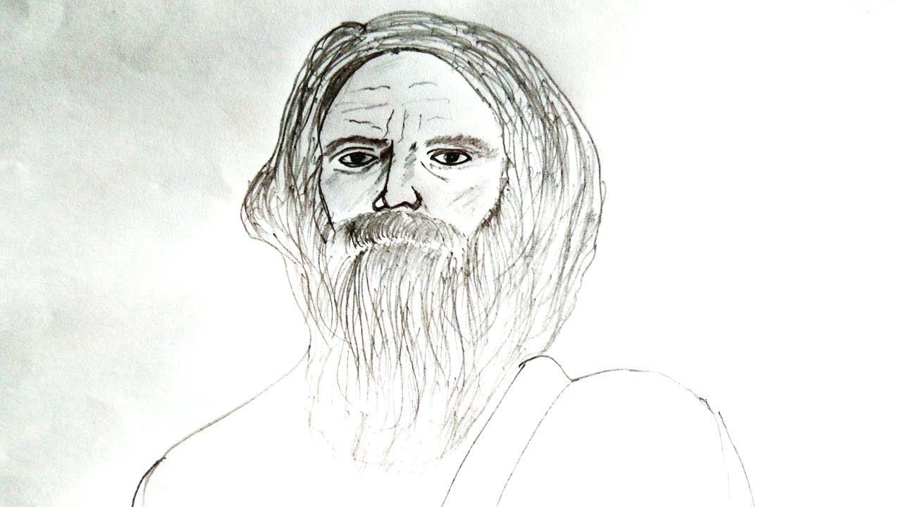 Draw Old Man For Kids Easy Drawing Youtube
