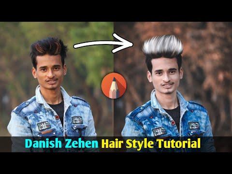 Danish Zehen Hair Style Editing Tutorial || Stylish Hair Design In Autodesk Sketchbook || SK EDITZ