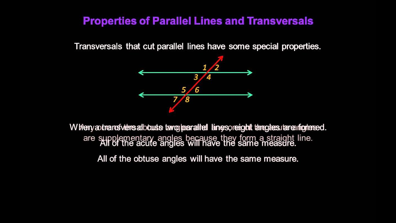 And 3 Lines Parallel Transversal 1 Street